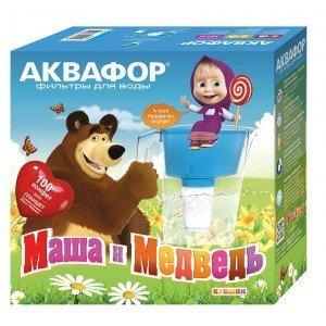 """Аквафор Ультра с флип-флоп крышкой """"Маша и Медведь"""""""