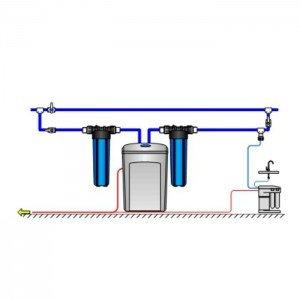 Умягчитель Аквафор WaterBoss 700 + Гросс 2 шт. + Морион + Соль 2 мешка